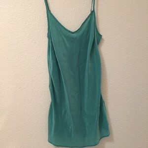 J.crew 100% silk aquamarine adjustable tank top